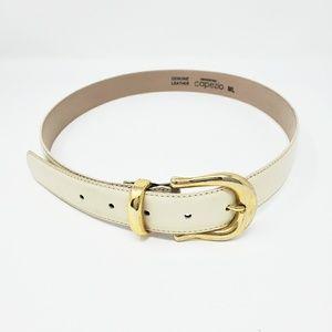 Cream Genuine leather Capezio Belt. G1,A,9/2